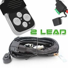 Universal 12V 2Lead Off Road LED Light Lamp Wiring Harness Kit Remote Controller
