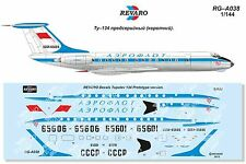 "Revaro Decal Tu-134 ""Short"" Aeroflot Retro for Zvezda kit 1/144"