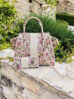 NWT Brahmin LG PRISCILLA Labyrinth Floral Leather Bag Satchel /wallet options