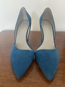 Reiss Blue Suede Heels Shoes Size 6/39