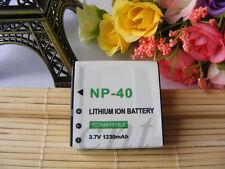 3.7 Volt 1230mAh Battery for NP40 Casio EXILIM Zoom EX-Z55 EX-Z57 EX-Z100 Camera