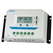 60A 12V 24V 48V solar panel charge controller with LCD display and dual USB port