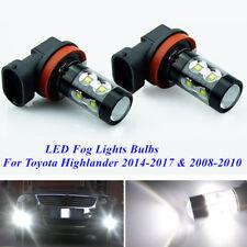 CREE LED Fog Lights For Toyota Highlander 2014-2017 & 2008-2010 H16 H11 6000K