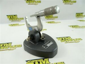 """MAHR INSPECTION MICROMETER STAND W/ LUFKIN 1-2"""" MICROMETER .001"""