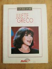 Juliette Gréco livre d'or 17 chansons & Musique Auvergnat Déshabillez-moi 2000