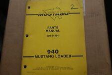 Mustang 940 Skid Steer Loader Parts Manual Book Catalog List Spare Front End