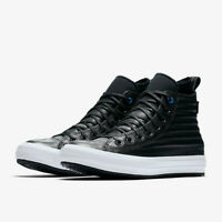 Converse Mens CTAS Hi Waterproof Boot Quilted Leather 157492C Black/White 12 NWB