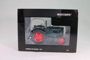 LE953 MINICHAMPS 109153070 1/18 1:18 Tracteur Hanomag R28 1953 vert