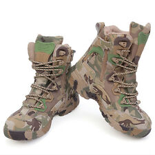 Men Camo Army Military Tactical Outdoor Boots Waterproof Hiking Camping Shoes