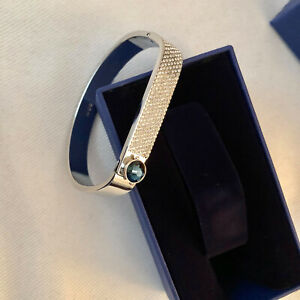 Authentic SWAROVSKI FORWARD Bangle Bracelet Silver Crystal 5215894 NEW