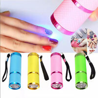 Mini LED Nail Dryer Curing Lamp Flashlight Torch UV Gel Art Pink Polish Portable