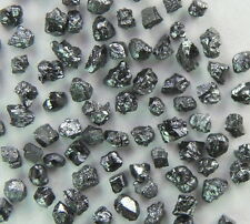 2.00 ct Natural Loose Diamond Rough Natural Shape Black Color
