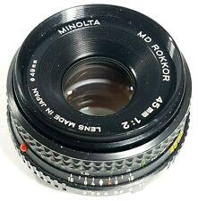 Minolta MD Rokkor 45mm F2 Prime Lens UK Fast post