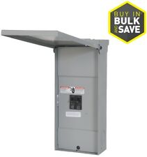 Main Breaker Load Center 2-Circuit 2-Space 100-Amp Feed-Through Lugs Ground Bar