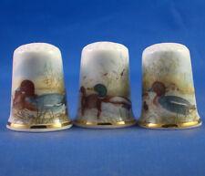 Birchcroft Thimbles -- Set of Three -- Water Birds