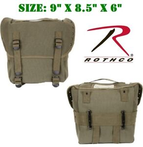 Vintage OD Military Style Butt Pack W / Alice Clips Cotton Canvas Rothco 8108
