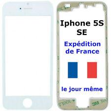 VITRE écran Apple IPHONE 5S / SE BLANC + Châssis cadre contour bezel + Adhésif