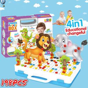 Mosaik Steckspiel Schraube Spielzeug - 3D Puzzle Pädagogisches Kinde Spielzeuge