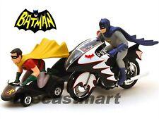 1/12 Hot Wheels Elite CMC85 Classic TV Series Batcycle With Batman and Robin