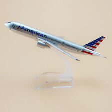 16cm Airplane Model Plane Air American AA Airline Boeing 777 B777 Aircraft Model