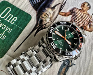 Marlinwatch Divers Automatic Watch Sports 45mm UK 🇬🇧 Divers 🐟NEW micro Brand
