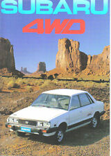 Subaru 4WD 1600 1800 1982 Original UK Market Sales Brochure Pub. No. 75P.82.3.E