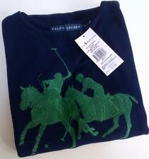 RALPH LAUREN COLLECTION NAVY GREEN BIG PONY KNIT BODYCON TANK DRESS S 8 10 £220!
