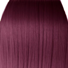 "15"" Clip in Hair Extensions STRAIGHT Rich Wine #35 FULL HEAD 8pcs"
