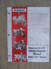 2005 Suzuki Motorcycle ATV Wiring Diagram Manual K5 Model Troubleshoot Guide J