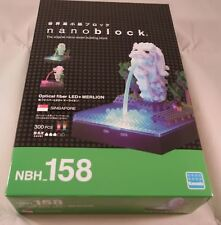 Kawada Nanoblock Optical fiber Led + Merlion - japan building toy Nbh_158