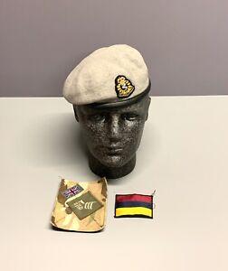RAMC Officer / Scots Dragoon Guards Beret, Badge, TRF & MTP Brassard. Size 54cm.