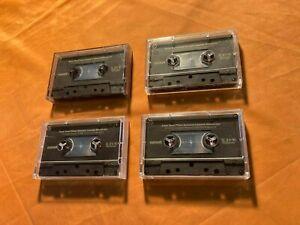 4 x Maxell XL II S 90 Cassette,IEC II/High Position,guter Zustand,,1986