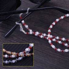 3pcs Beaded Cord Neck Eyeglass Chain Glasses Sunglasses Lanyard Retainer Holder