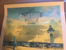 Lady Antebellum by Tim Doyle Nakatomi screen print Wheels Up 18 x 24 Inches Rare