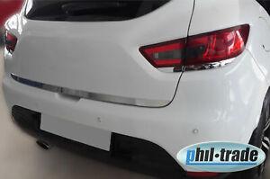 Chrom Leiste Zier Blenden für Renault Clio IV unter Rücklicht EDELSTAHL ab 2012>