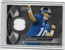 ELI MANNING 2011 BOWMAN STERLING GAME USED JERSEY