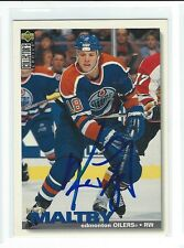 Kirk Maltby Signed 1995/96 Upper Deck Collectors Choice Card #191