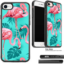 Pink Flamingo Mint Green Rubber Phone Case Cover For Apple iPhone and Samsung
