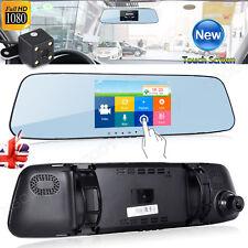 Dual Lens HD 1080P Vehicle Dash Cam Car DVR Mirror Camera Video Recorder New UK