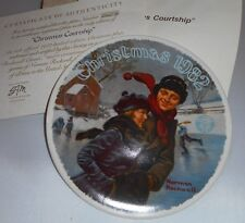 1982 Christmas Courtship 9th Christmas Series Norman Rockwell Collector Plate