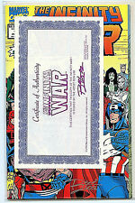 Infinity War Ron Lim Signed Issue # 1 Comic with COA 1992 NM+ Marvel Amricons