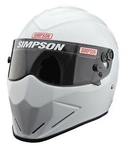 Simpson Diamondback Helmet Snell Sa2020 Gloss White M6 Msa Hans Stig car racing