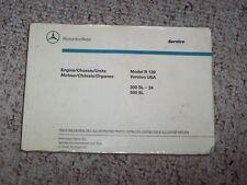 1990 Mercedes Benz 300SL 500SL 300 500 SL Engine Chassis Parts Catalog Manual