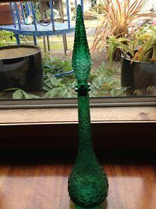 Vintage  Retro Genie Bottle-Green