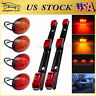 For 99-10 Ford F350 Red&Amber LED Dually Bed Fender Light +2x Red ID Tail Lights
