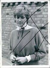 PRINCESS LADY DIANA SPENCER WEARS HER CHIC RUFFLED BLOUSE PRESS PHOTO MARCH 1981
