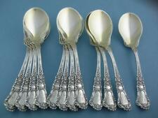 12 Sterling GORHAM Ice Cream Spoons BARONIAL OLD 1898