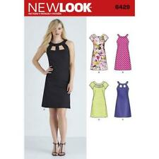 New Look Sewing Pattern 6429 Misses Sleeves Cut Out Neckline Dresses 10-22 Uncut