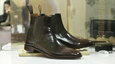 Handmade Men's Two Tone Chelsea Boots, Men Chelsea Ankle Boots, Dress Boots