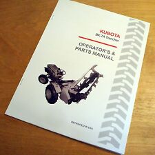 Kubota BK-7A Trencher Operator's and Parts Manual for B7100 Tractors